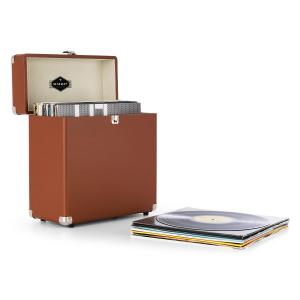 VinylboxRecord Case Leather Nostalgia 30 LPs brown Brown