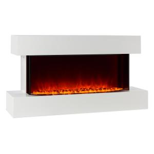 Studio-2 Electric Fireplace LED Flame Simulation 1000/2000 W 40m² White 1000/2000 W