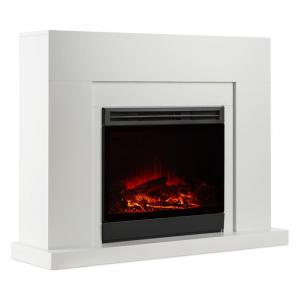 Blanca Electric Fireplace LED Flame Simulation 750/1500 W 40 m² White 5000 BTU
