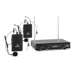VHF-2-HS 2-Channel VHF Wireless Microphone Set 2 x Headset 50m 2 x Headset-Microphone