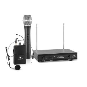 VHF-2 HS Conjunto 2 x Microfone Headset s/Cabo VHF 2 Canais 50m 1 x microfone manual / 1 x microfone headset