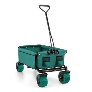 The Green Hand Cart Wagon Trolley Foldable 70kg 90l Wide Wheels 10cm Green Green