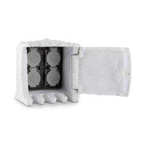 Power Rock buitenstopcontact 4 stopcontacten 5 m snoer - steen Wit | 5 m Kabel