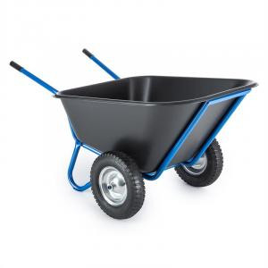 Colossus Wheelbarrow Barn Barrow 300l 350 kg 2 Wheels Blue