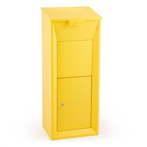 Postbutler Packetbox Parcel Post Box Standing Post Box Yellow Yellow