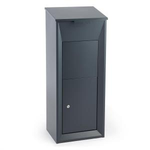 Postbutler Packetbox Parcel Post Box Standing Post Box Dark Grey Grey