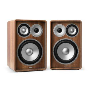 RETROSPECTIVE 1978 MKII - Three-Way Shelf Speaker Pair Walnut Walnut | No Cover | No Stands