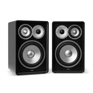 RETROSPECTIVE 1978 MKII - Three-Way Shelf Speaker Pair Black Black | No Cover | No Stands