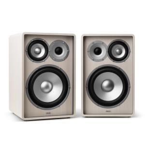 RETROSPECTIVE 1978 MKII - Three-Way Shelf Speaker Pair White White | No Cover | No Stands