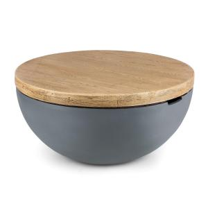 Blockhouse Lounge table ronde de jardin en béton 80x40 cm (ØxH)