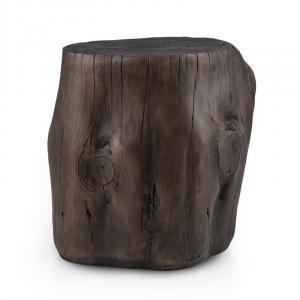 Blockhouse Chair Silla tocón Taburete para jardín 45x44x36cm Efecto madera