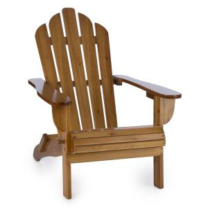 Vermont Garden Chair adirondack style fir wood 73x88x94 foldable brown