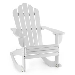 Rushmore Schaukelstuhl Gartenstuhl Adirondack-Stil 71x95x105 weiß