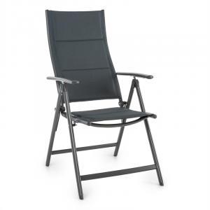 Stylo Noble Grey Garden Chair Folding Chair Aluminium Grey