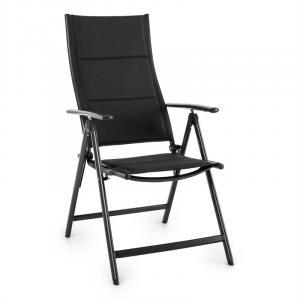 Stylo Royal Black Krzesło ogrodowe składane aluminiowe czarne