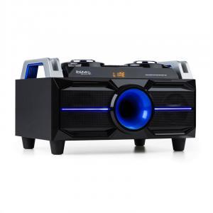 SPLBOX100 Système audio portable Bluetooth USB SD radio FM LED 100W