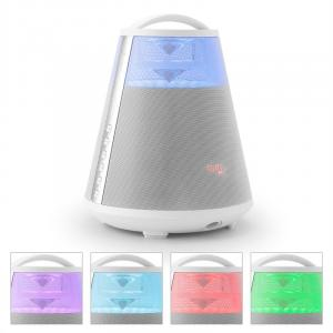 FREESOUND65 Altavoz con Bluetooth Batería Sonido 360° LED AUX USB SD FM blanco Blanco