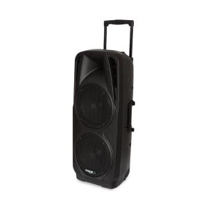"PORT225VHF-BT Mobile PA Speaker System Bluetooth USB SD AUX MP3 VHF Black | 2x 25 cm (10"")"