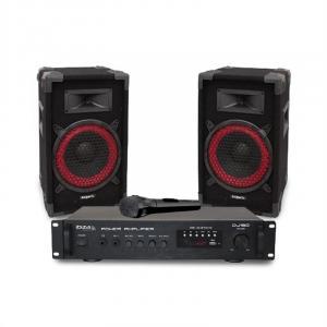 "DJ150 Disco Sound Set PA-versterker 19"" 2 x Luidspreker 150W"