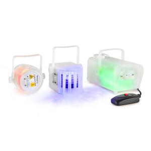 CLEAR-PACK Lichteffect-set Firefly-Laser Derby-effect 400W Rookmachine