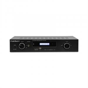 MAD-1400 BT Amplificador HiFi Estéreo con Bluetooth, USB, SD, MP3, AUX y VHF en negro Negro