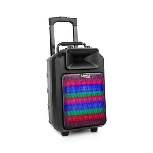 ibiza POWER8LED-MKII Portable PA speaker 120W Bluetooth USB / SD VHF Battery