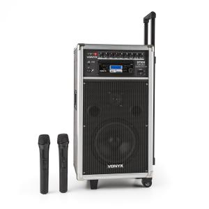ST-100 MK2 Sistema de Som PA Móvel Bluetooth CD USB SD MP3 Bateria UHF