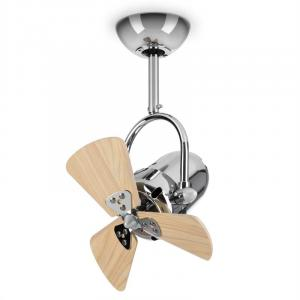 "Strato Ceiling Fan Mini Rotor Ø33cm / 13"" 35W Stainless Steel Chrome Plated"