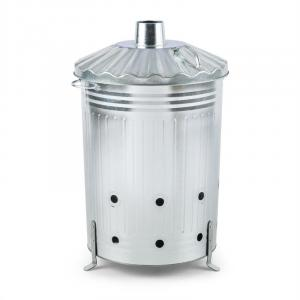 Rapidfire for garden waste fire barrel kiln waste 90L galvanized silver