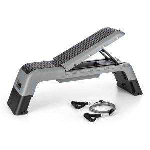 Stepalot 4 in 1 Stepper weight bench seat black/grey