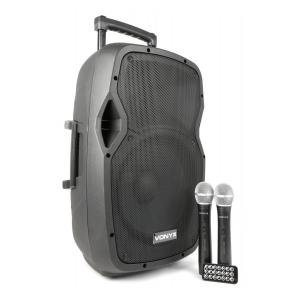 "AP1200PA mobile PA system 30 cm (12"") Bluetooth USB SD MP3 VHF battery"