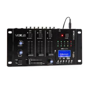 Vexus STM3030 4-Kanals-Mixerbord Bluetooth USB SD MP3 LED