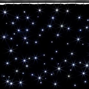 SparkleWall LED Curtain LED 96 RGBW - Cold White 3x2 m Incl. Remote Control