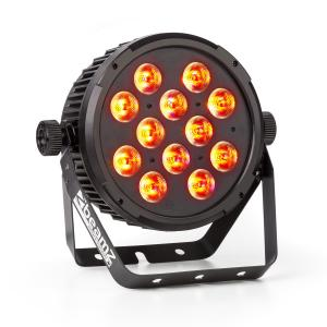 BT300 FlatPAR 12x 12W 6-in-1-LED RGBAW-UV DMX Telecomando-IR
