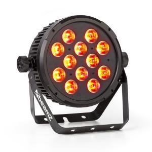 BT310 FlatPAR 12x 8W 4-in-1-LEDs RGBAW-UV DMX IR-Fernbedienung
