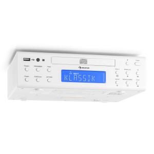 KRCD-150 kitchen radio CD USB AUX FM RDS alarm remote control white White