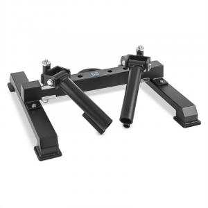 Duessmi Barbell Holder for 2 Barbell Bars Landmine Black