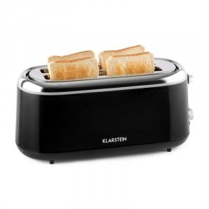 Elox Long Slot Toaster Retro 1300 W 7 Browning Levels Black