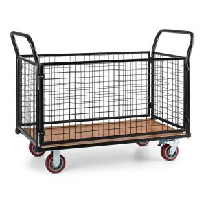 Loadster Cage Trolley Warehouse Trolley Max. 500 KG Wooden Floor Black