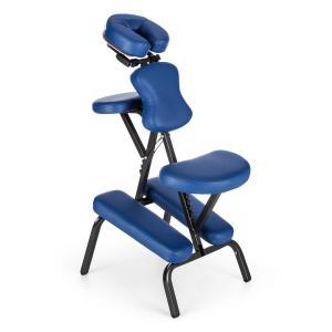 MS 300 Siège chaise massage tatouage acier 120kg Sac transport – bleu Bleu