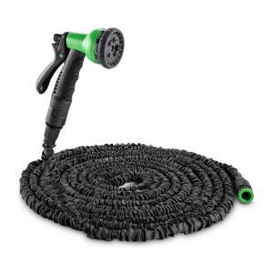 Water Wizard 15 giętki wąż ogrodowy 8 funkcji 15 m czarny Czarny | 15 m