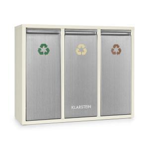 Ordnungshüter 3 afvalemmer afvalscheider 45L (3 x 15 L) créme beige 45 Ltr