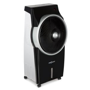 Kingcool 4-in-1 Luftkühler Ventilator Luftbefeuchter Luftreiniger 2340 m³/h | 95 W | 8 Liter | 3 Geschwindigkeiten | Ionisator | Oszillation | mobil | Fernbedienung Schwarz