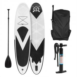 Spreestar Inflatable Paddle Board SUP Board Set 300x10x71cm black-white