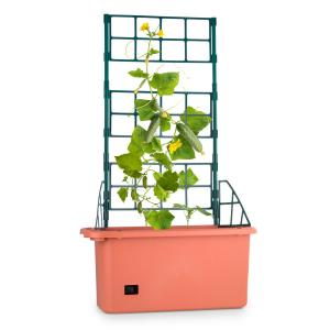 Power Planter Pot de plantes 75x130x35cm Tuteur 3 étages Plastique PP