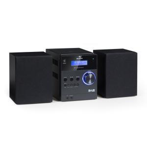 MC-20 DAB Micro-Stereoanläggning DAB+ Bluetooth Fjärrkontroll Svart Svart