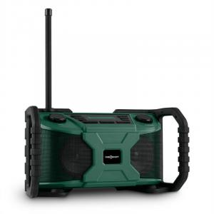 Worksite outdoor luidspreker DAB+ UKW bluetooth USB batterij - groen Groen