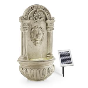 Löwenstein Wall Fountain Garden Fountain Solar 2W LED Polyresin Stone Look