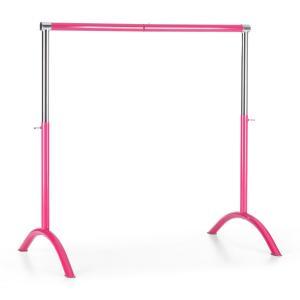 Bar Lerina balletstang barre mobiel 110x113 cm in hoogte verstelbaar - roze staal Pink