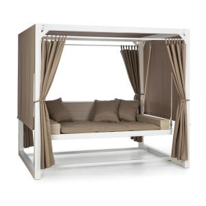 Eremitage Luxury Bench Swing 236x180x210cm White / Taupe White